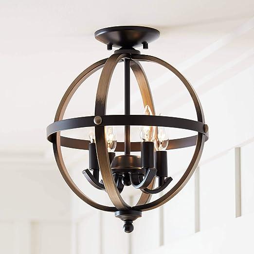 Amazon.com: Kimpton - Lámpara de techo (4 focos, madera y ...