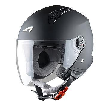 Astone Helmets Mini Jet Army Casco Jet, color Negro Mate, talla M