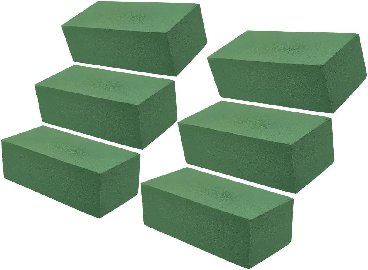 EXCEART 6Pcs Briques de Mousse de Fleurs Rondes en Forme Darrangement de Fleurs Blocs de Mousse Bricolage Base de Boue de Fleurs S/éch/ées