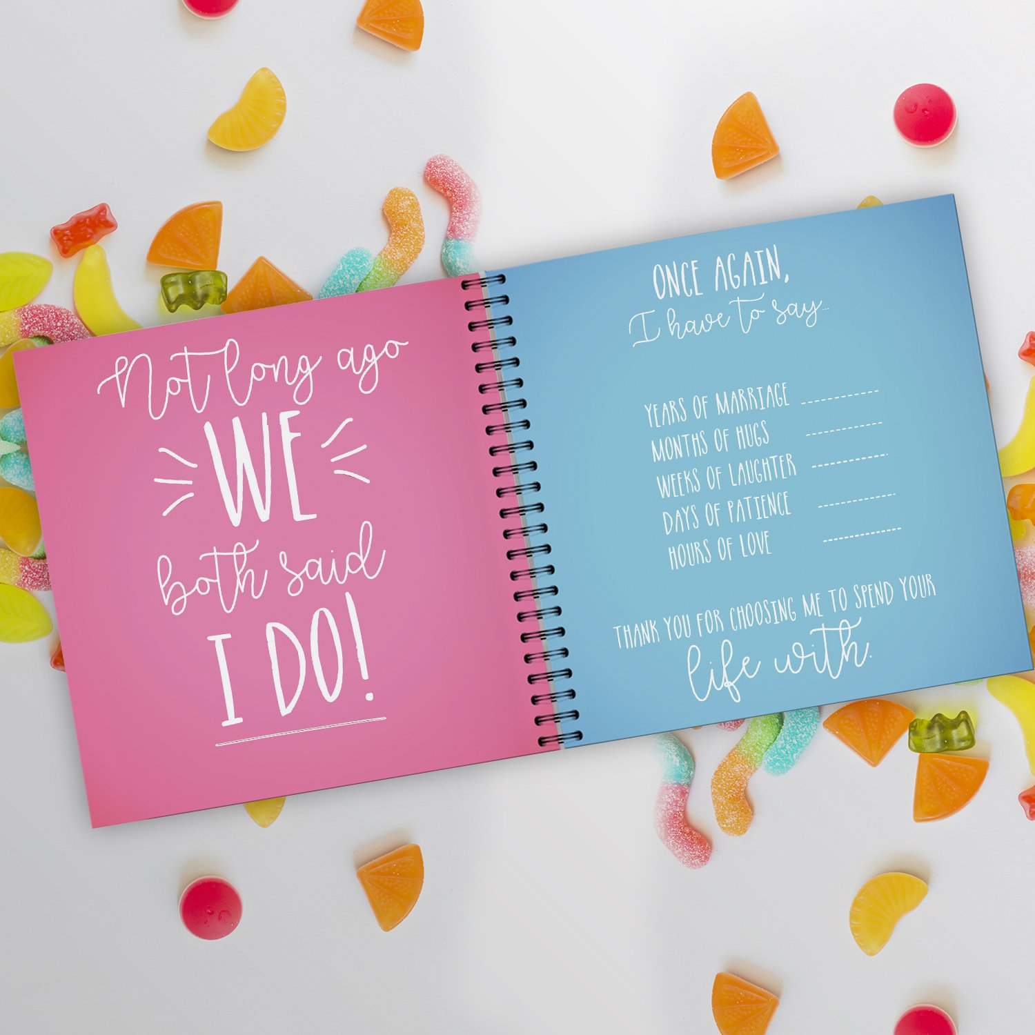 Amazon.com: Just Married 2nd Wedding Anniversary Gift Booklet. 2 ...
