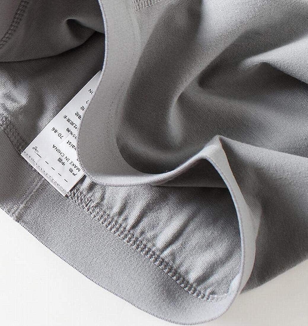 XiaoTianXin-men clothes XTX Mens Underwear Cotton Breathable Soft 3-Pack Solid Color Boxer Briefs