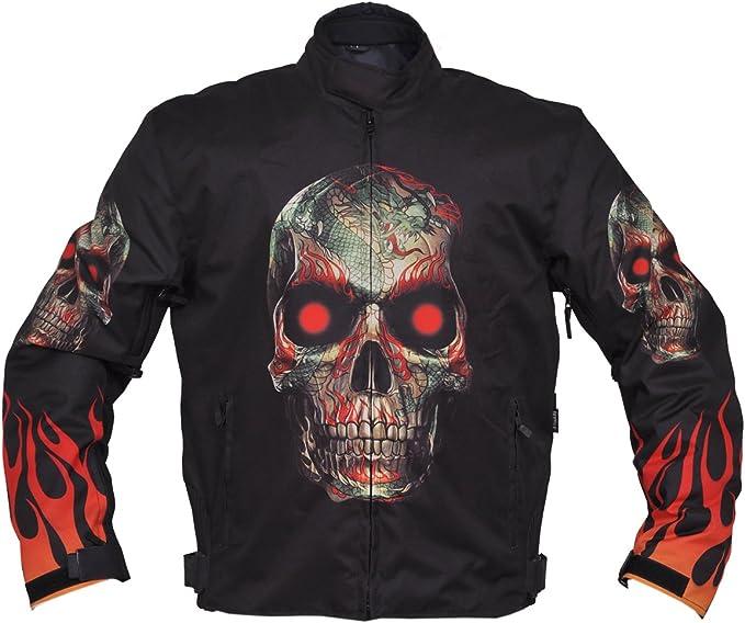 Amazon.com: Cráneo Textil chamarra de moto: Clothing