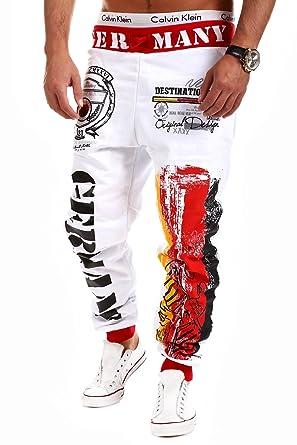 8732ef31f9e76 MT Styles - R-523 - Pantalones deportivos - Diseño Alemania - Blanco - XXL   Amazon.es  Ropa y accesorios
