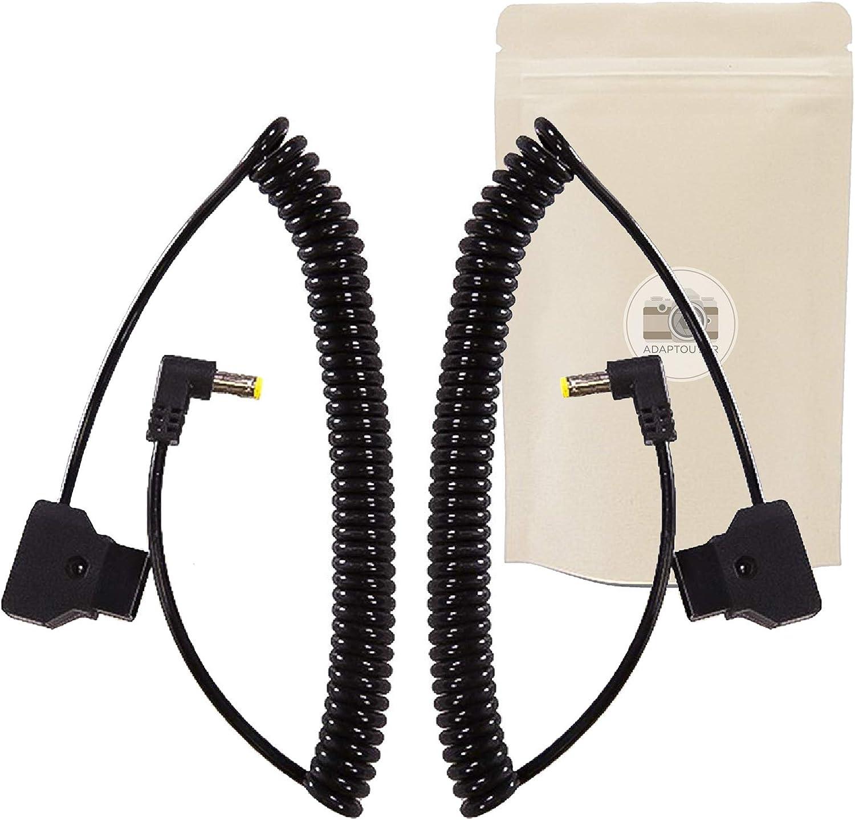 Lot de 2 Dtap Câble Tressé d'alimentation Droit D-Tap Mâle Vers DC 12v BMCC Connecteur Accessoire BlackMagic Caméra DSLR 40cm - 130 cm