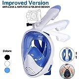 Unigear Máscara De Buceo 180° Vista Panorámica Máscara Facial Completa Con Soporte Para Cámara Deportiva