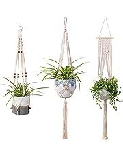 Macrame Plant Hangers Indoor Wall Hanging Planter Basket Flower Pot Holder Boho Home Décor