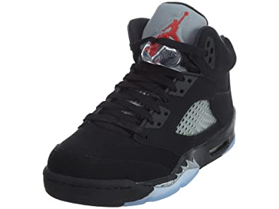 info for 4b1ce d2a06 Jordan 5 Retro Big Kids Style, Black Fire Red Metallic Silver White