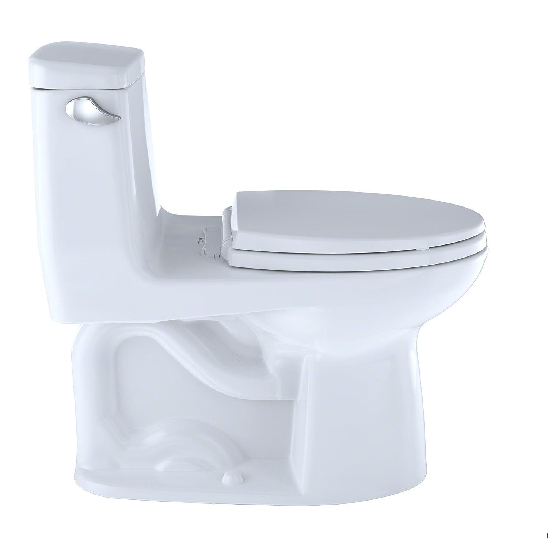 TOTO MS854114SL#01 Ultramax ADA One Piece Toilet, Cotton White ...