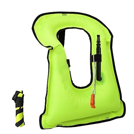 barsone Snorkel Vest Portable Inflatable Life Vest Safety Jackets for Adults
