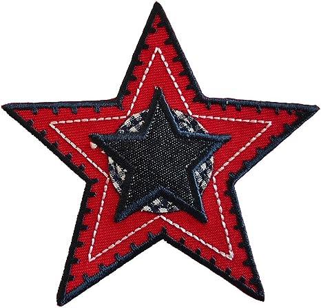 2 Parche de bordado o planchado Estrella Roja Actitud 9X9Cm Monstruos Espeluznantes 5X7Cm termoadhesivos bordados aplique para ropa con diseño de TrickyBoo Zurich Suiza por España: Amazon.es: Bebé