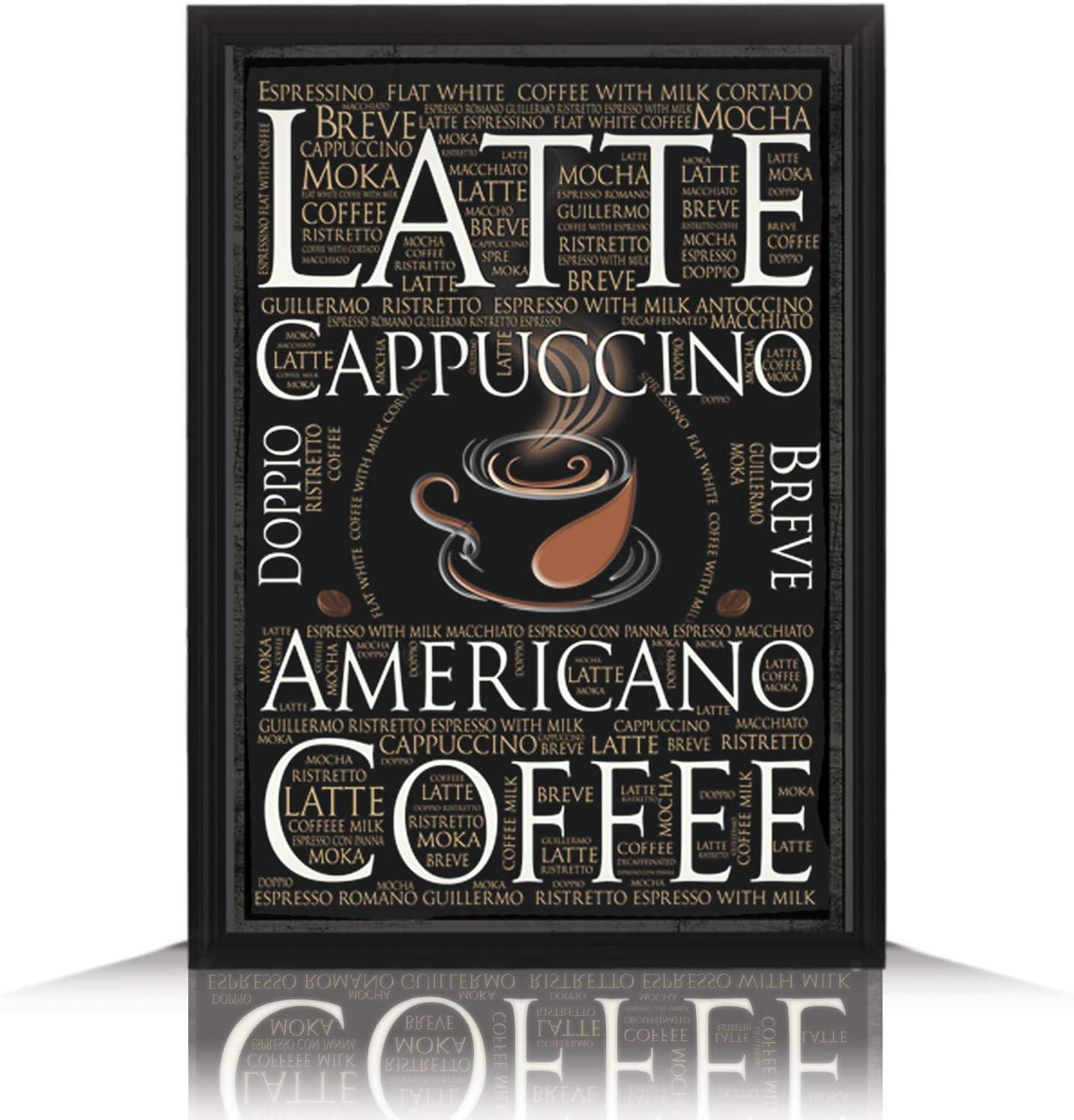 SKYPOP Premium Wooden Coffee Sign, Coffee Bar Accessories, Coffee bar Decor, Coffee Station, Coffee Decorations for Kitchen, Coffee Signs for Coffee Bar, Kitchen Decor (11x14 Inches)