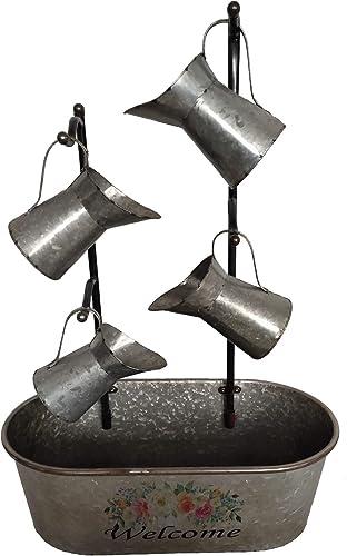 BACKYARD EXPRESSIONS PATIO HOME GARDEN 906028 Metal Cascading Water Jug Outdoor Garden Fountain