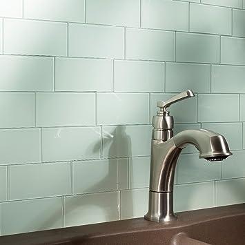 Aspect Peel And Stick Backsplash Kit Morning Dew Glass Tile For Kitchen And Bathrooms 15