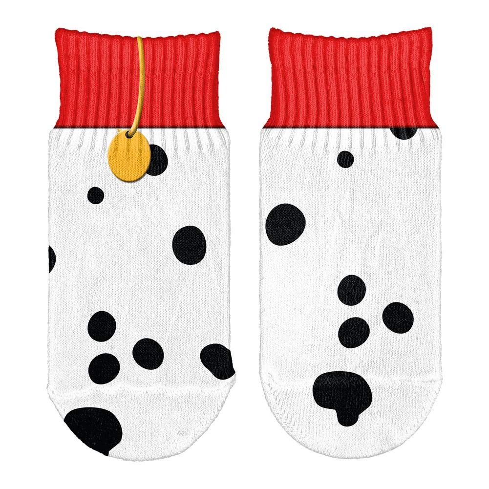 Dog Dalmatian Costume Red Collar All Over Toddler Ankle Socks Old Glory 00190631-WHT-OS