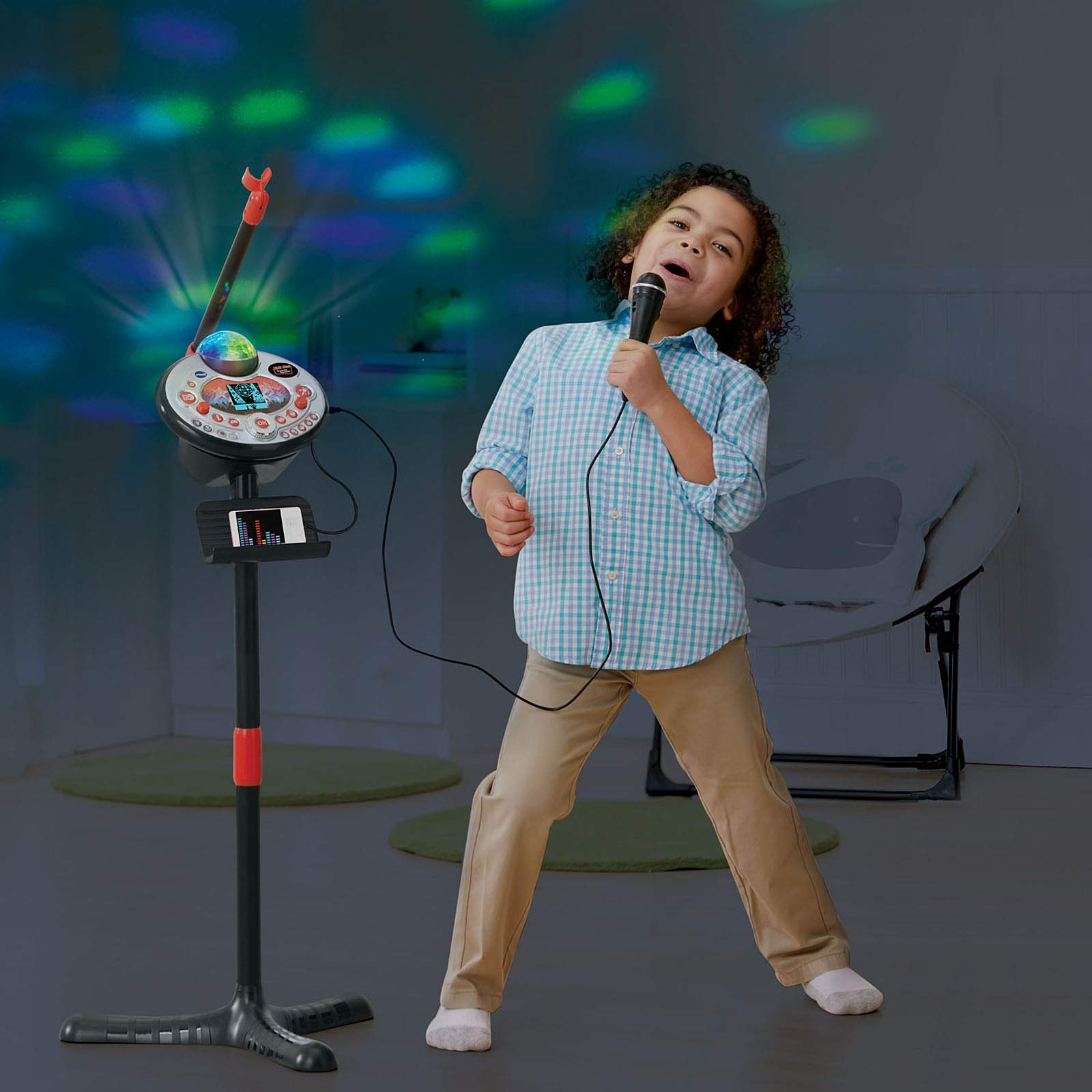 VTech Kidi Star Karaoke Machine (Black) (Renewed) by VTech (Image #5)