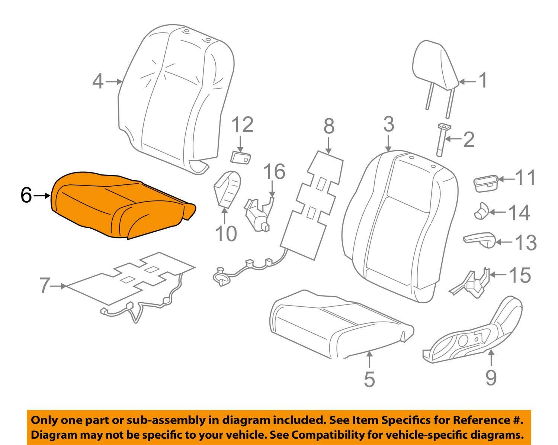 Honda Genuine 81131-TS8-V41ZB Seat Cushion Trim Cover Front Right