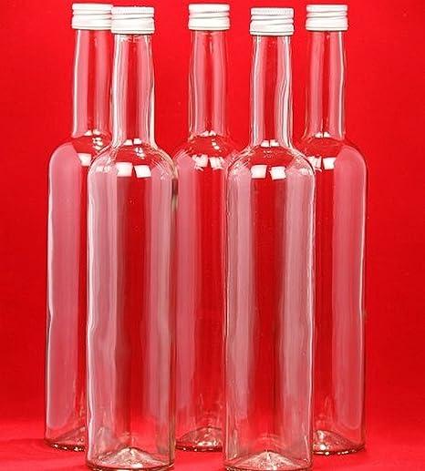 20 botellas de vidrio vacías BORDO 0,5 l botellas de botellas de zumo de