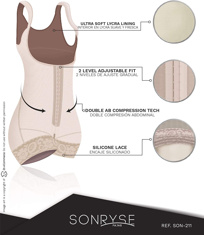 Sonryse Liposuction Compression Garments Shapewear fo Woman 211 Fajas Colombianas Reductoras y Moldeadoras
