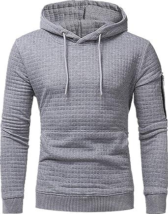 AEFSTSL Men's Slim Fashion Sports Hoodie