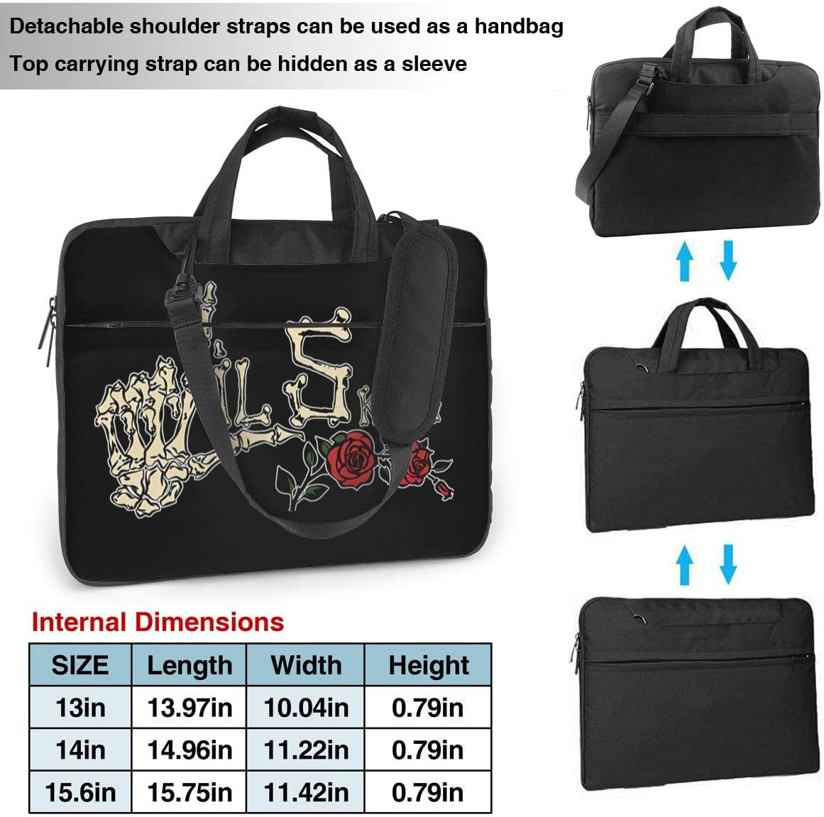 JuaoHuan Lil Skies Laptop Shoulder Messenger Bag Case Briefcase Sleeve for 13 Inch 14 Inch 15.6 Inch Laptop Case 13 Inch