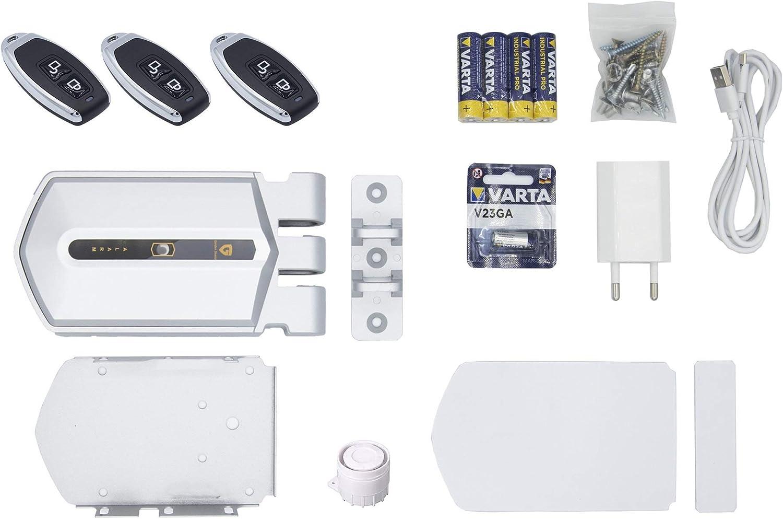 Cerradura Invisible con alarma 120db Golden Shield Alarm 3 mandos incopiables