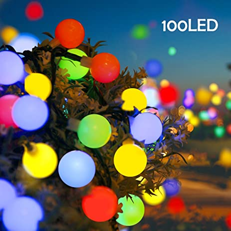 Amazon lalapao globe string lights outdoor christmas lalapao globe string lights outdoor christmas decorations 100 led battery operated ball lights waterproof fairy lighting workwithnaturefo