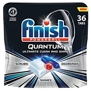 Finish - Quantum - 36ct - Dishwasher Detergent - Powerball - Ultimate Clean & Shine - Dishwashing Tablets - Dish Tabs