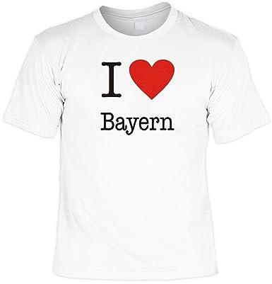 Sprüche Fun Tshirt I Love Bayern In Weiss Amazon De Bekleidung