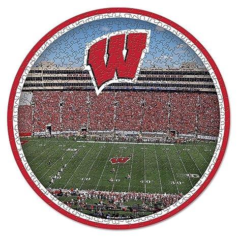 Amazon Com Wisconsin Badgers 500 Piece Stadium Puzzle