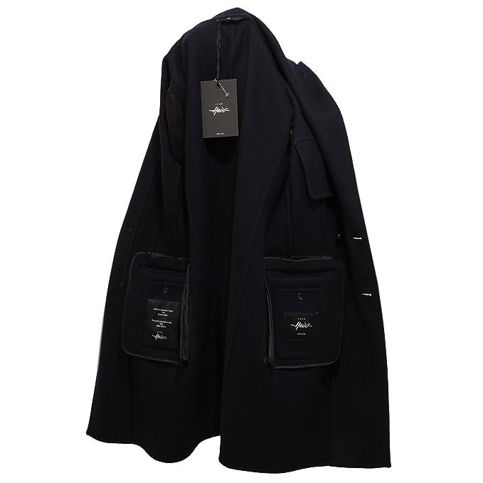 0510V cappotto uomo HEVO  ADELFIA SLIM blue jacket coat men  50    Amazon.it  Abbigliamento 26dd30c6eec