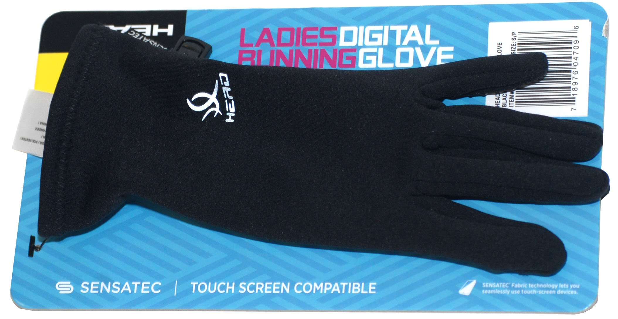 HEAD Sensatec Touchscreen Ladies Digital Running Gloves (Small, Black)