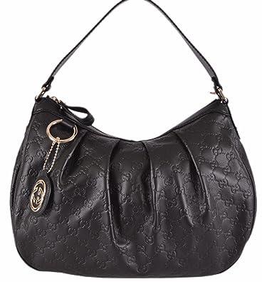 e51a4ad35d6a Amazon.com  Gucci Women s Black Guccissima Leather GG Charm Sukey Purse   Shoes
