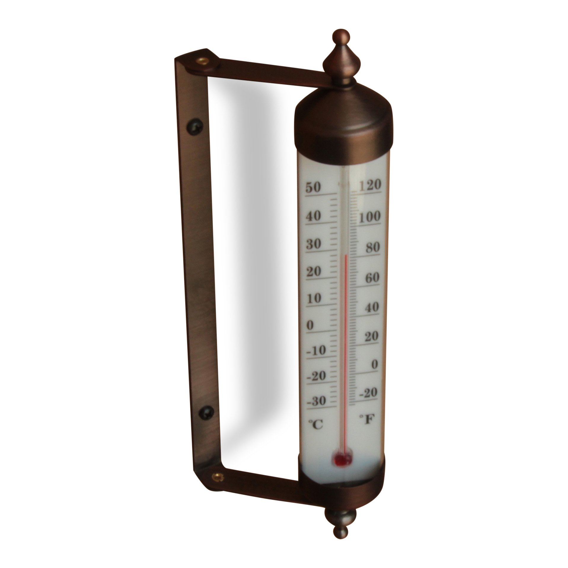 Adjustable Angle 10 Inch Garden Thermometer (Bronze)