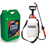 Spear & Jackson Spray and Leave | 5L with 5L Pressure Sprayer | Concentrated Formula | Treats up to 200 sq m
