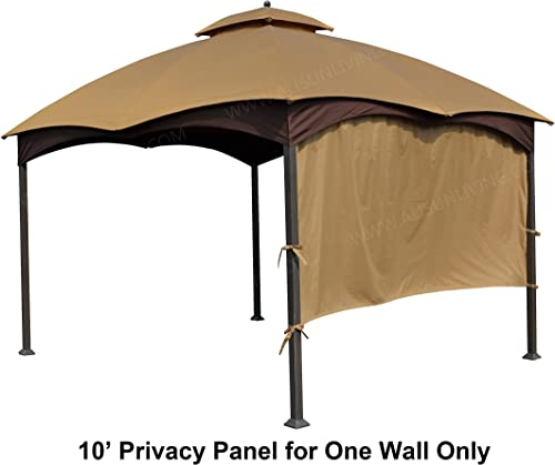ALISUN Universal 10 Gazebo Privacy Panel – Brown