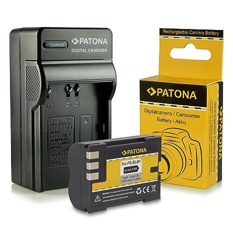 Cargador + Batería PS-BLM1 para Olympus C-5060 Wide Zoom | C-7070 Wide Zoom | C-8080 Wide Zoom | E-1 | E-3 | E-30 | E-300 | E-330 | E-500 | E-510 | ...