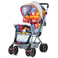 Luvlap Sunshine Baby Stroller and Pram - Stripes (Multicolor 2)