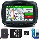 Garmin Zumo 395LM Motorcycle GPS Navigator Bundle includes GPS, PocketPro XL Hardshell Case, MicroSD HC 16GB C10 U1 With SD Adapter and Screen Cleaner