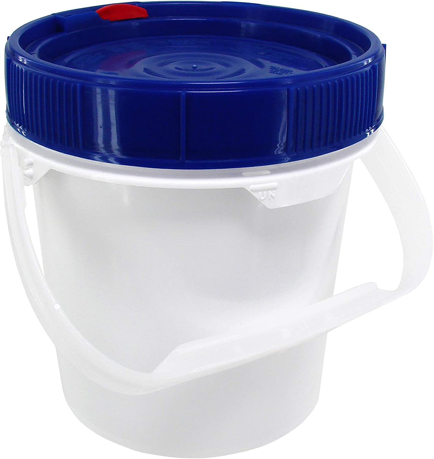 Screw Top Bucket - 0.6 Gallon with Blue Lid, 49 mil