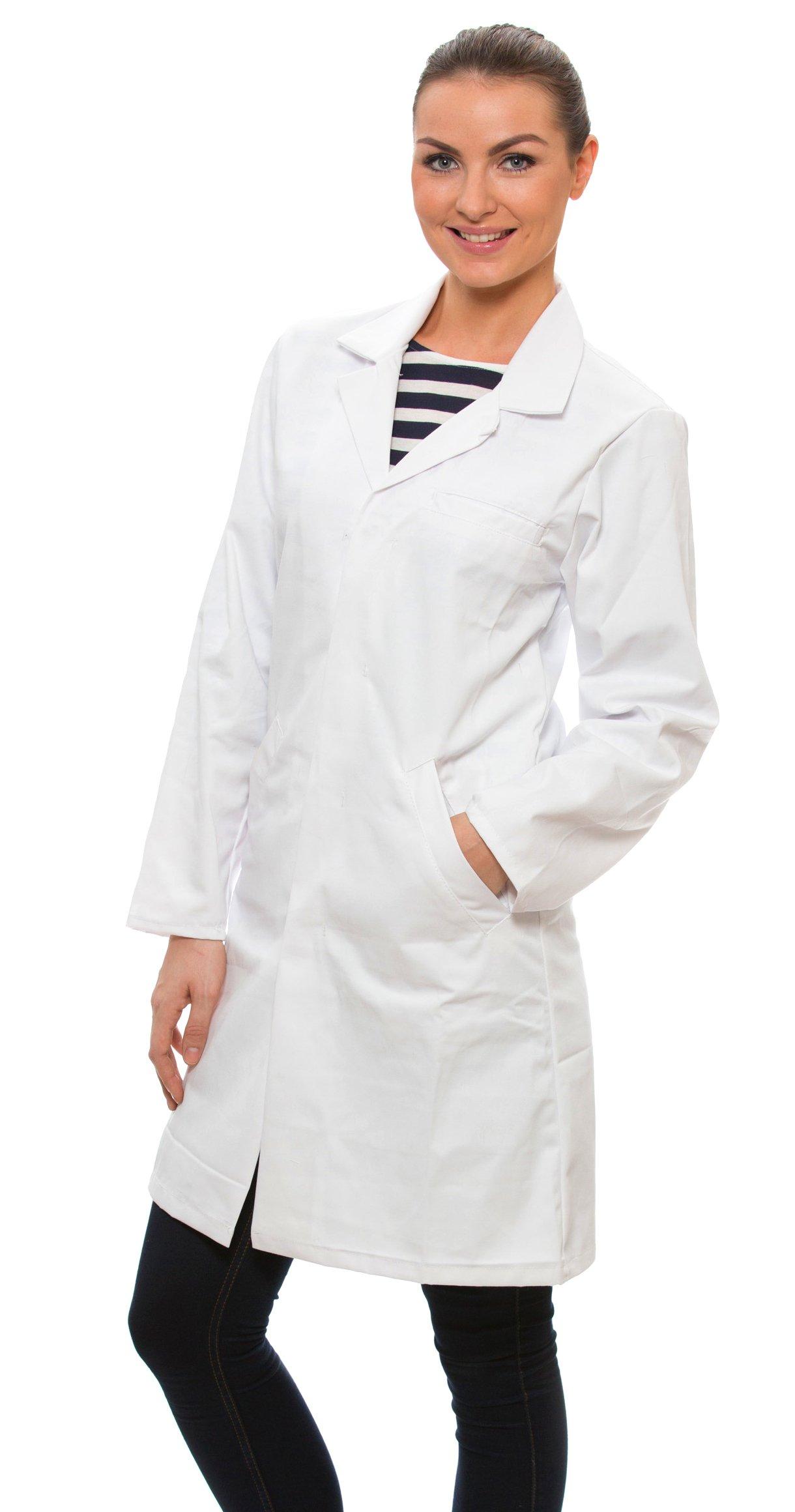 Dr. James Women's 100% Cotton White Lab Coat 39 Inch Length Size 6 US-04-C by Dr. James (Image #2)