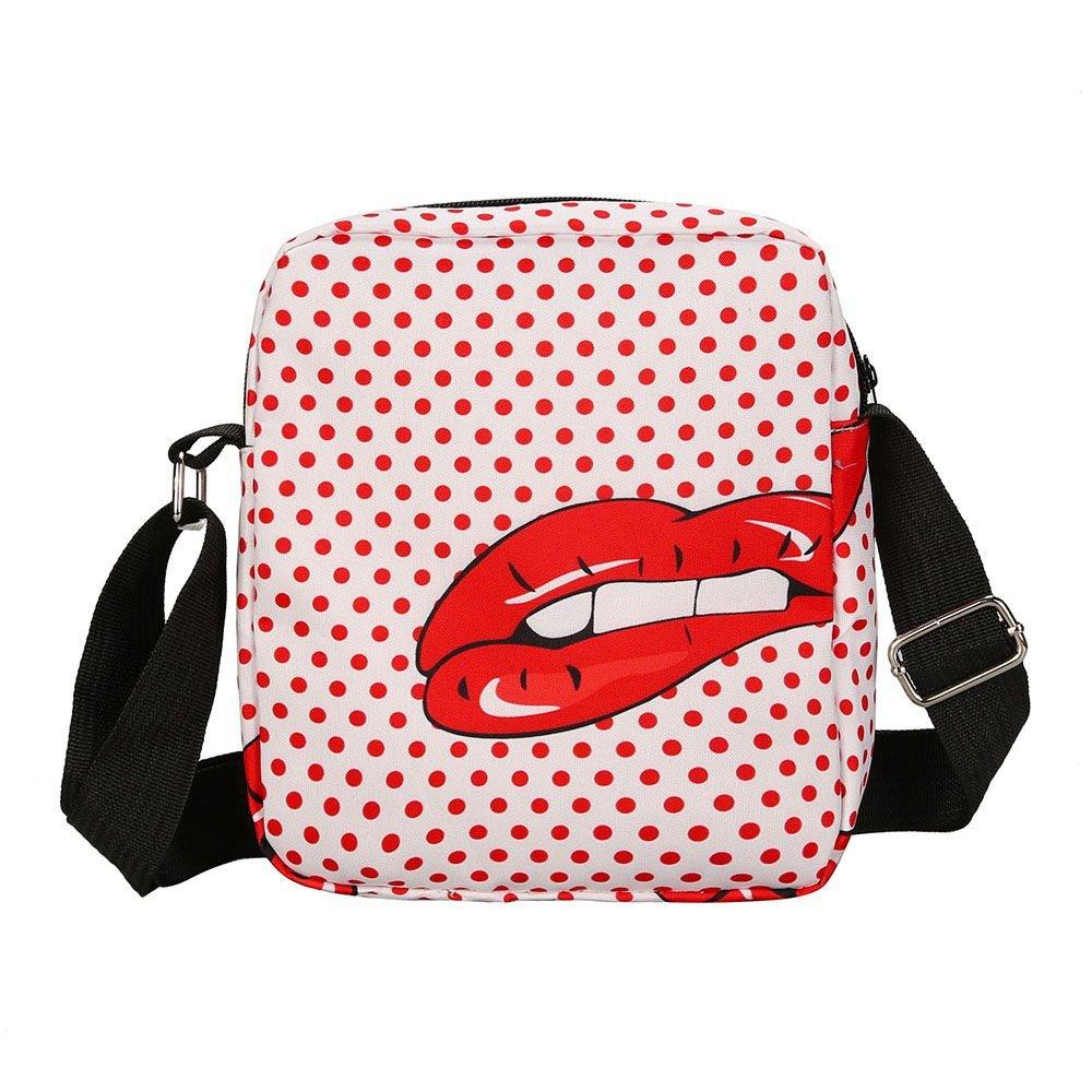 Amazon.com: SODIAL moda mujeres bolsos 3d sexy labios rojos ...