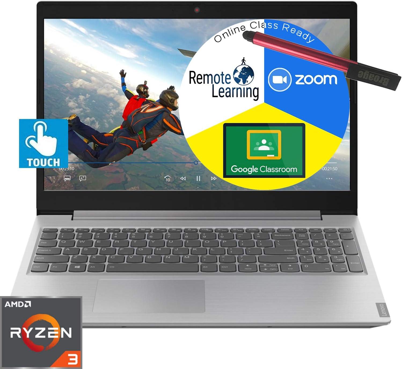 "Lenovo IdeaPad L340 15.6"" Touchscreen Laptop Computer_ AMD Ryzen 3 3200U Up to 3.5GHz (Beats i5-7200U)_ 8GB DDR4 RAM_ 1TB HDD_ DVDRW_ Webcam_ Windows 10_ BROAGE 64GB Flash Stylus_ Online Class Ready"