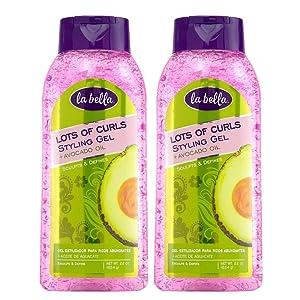 La Bella Lots of Curls Hair Styling Gel Now with Avocado Oil 22 oz (Pack of 2)