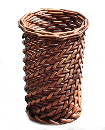Amazon.com: TELLM Pure handmade basket Wicker rattan vases pots home ...