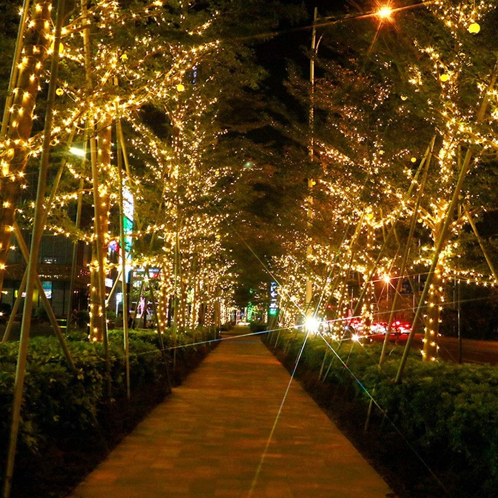 KELITE Lichterketten 1000LED 100M 8 Modi Schnur-Licht-Plug-in (UK oder EU) for Indoor Outdoor-Hochzeit Schlafzimmer-Weihnachtsgarten-Terrasse Dekorationen (Color : Colorful-50m*500LEDs) Colorful-10m*100leds