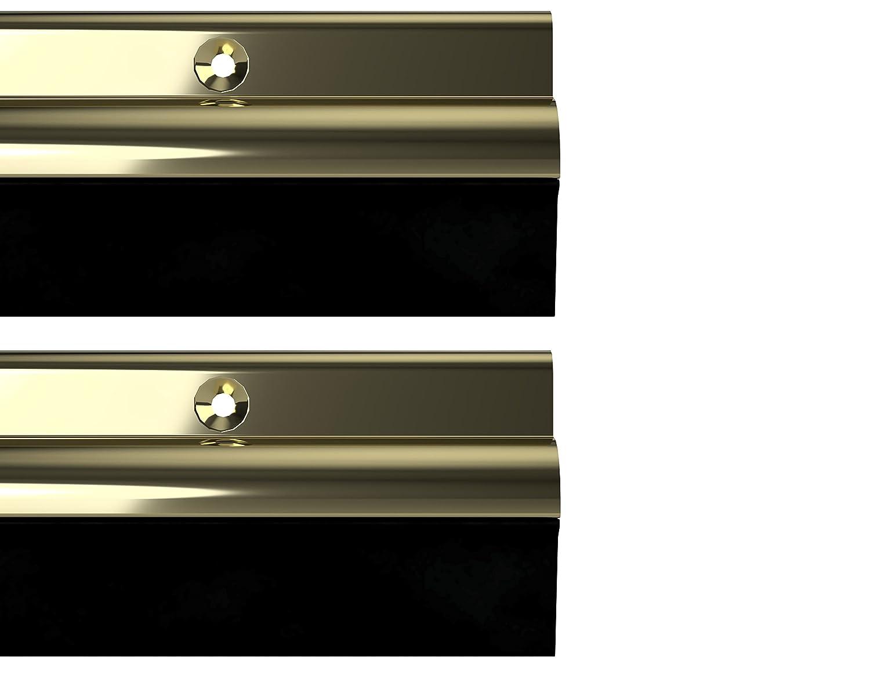 STORMGUARD 03AM0050838G BDS Bottom of The Door Rubber Draught Seal, Gold, 838 mm, Set of 2 Pieces Srormguard