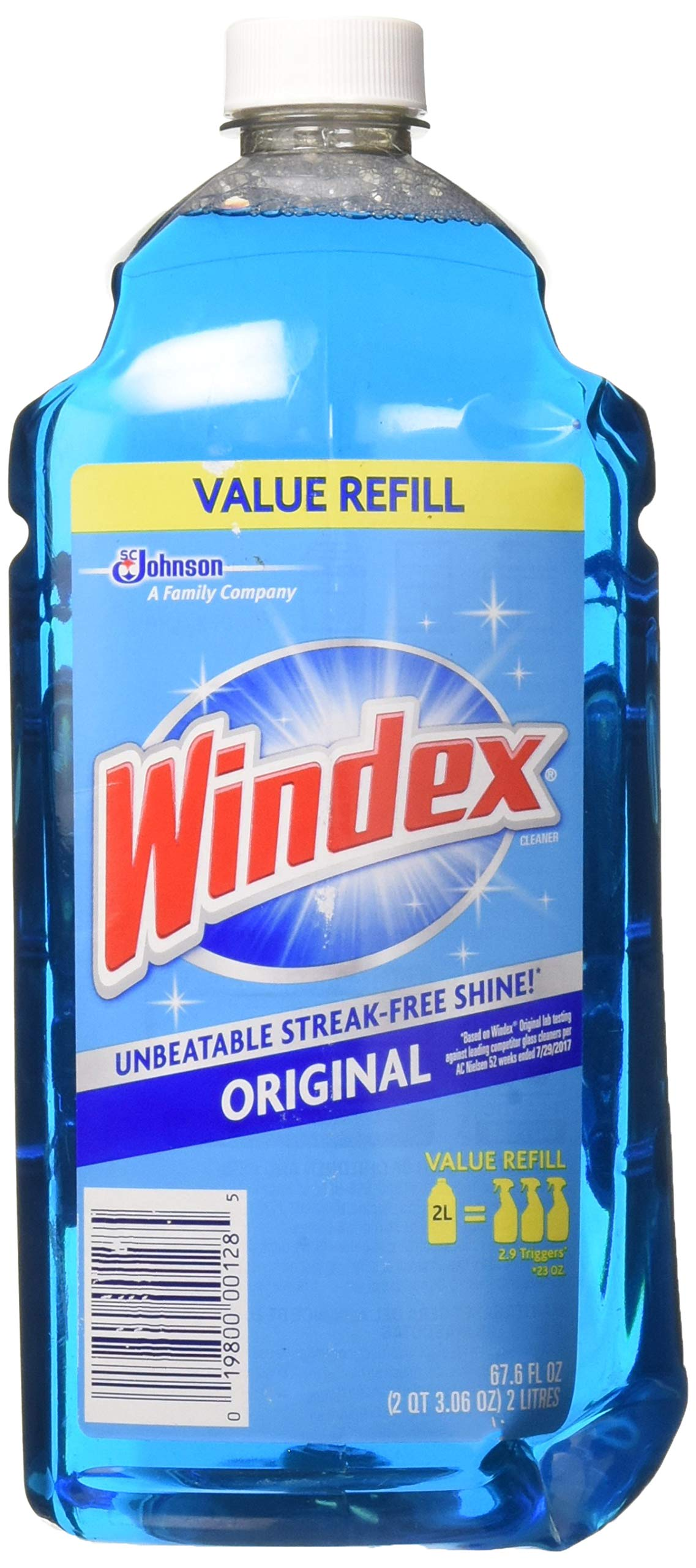 Windex Original Glass Cleaner Refill 67.6 Ounces (2 Liter) (1)