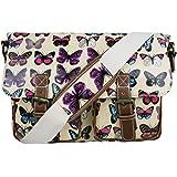 Stylla London Oilcloth Owl/Butterfly/Dog/Skull/Polka dots Designer Satchel Cross body Messenger Bag