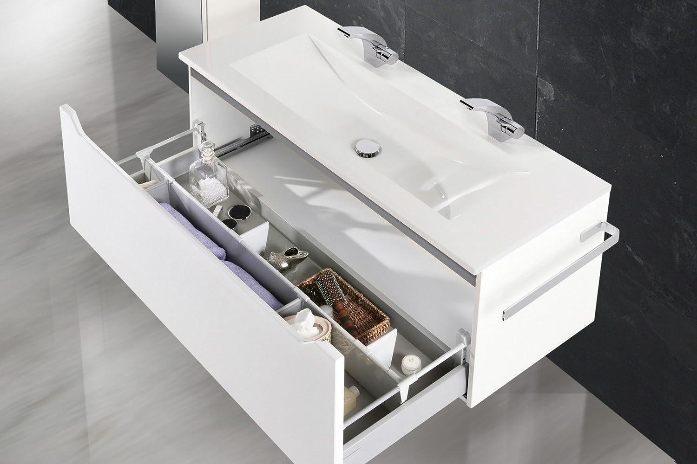 Intarbad Design Badmöbel Set mit 120 cm Doppelwaschtisch, Grau ...