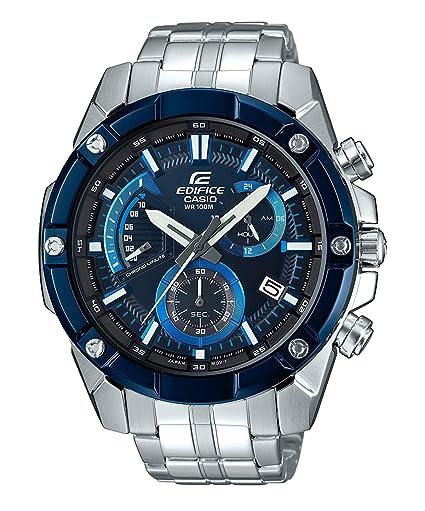 Casio Reloj Analogico para Hombre de Cuarzo con Correa en Acero Inoxidable sólido EFR-559DB-2AVUEF: Amazon.es: Relojes